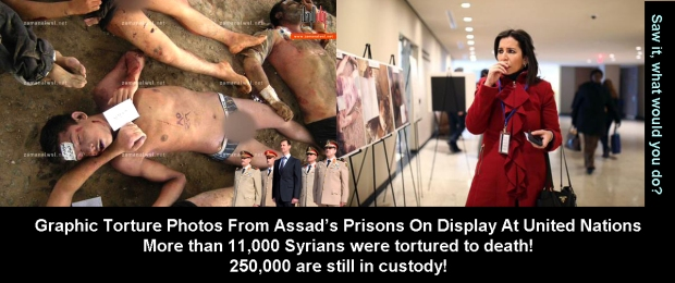 syria assad torture photos on display at UN