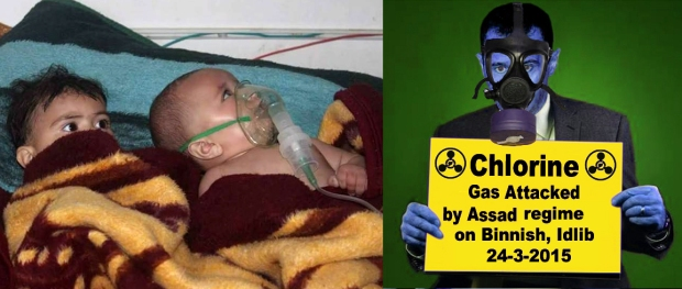 syria assad chlorine gas bomb attack on children
