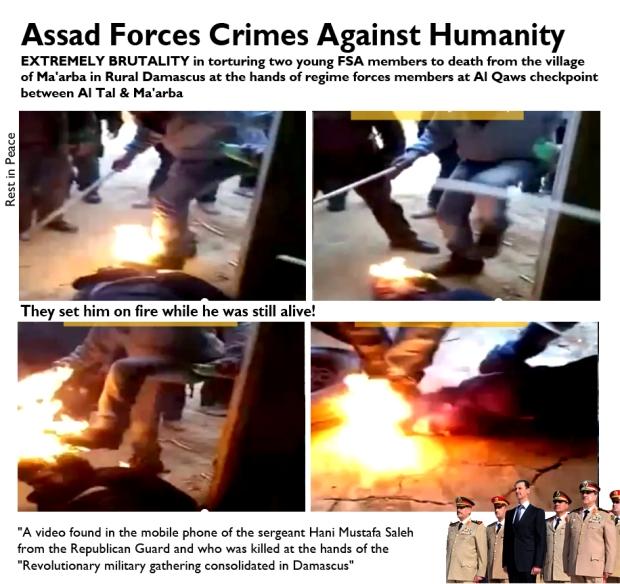 Syrians were brutally tortured and killed by assad regime forces