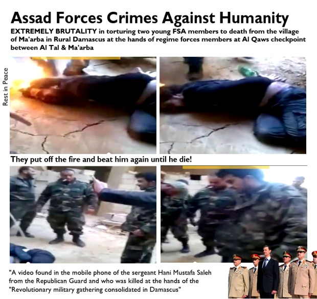 Syrians were brutally tortured and killed by Assad regime forces
