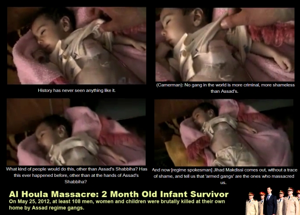 Syria Assad regime kill infant