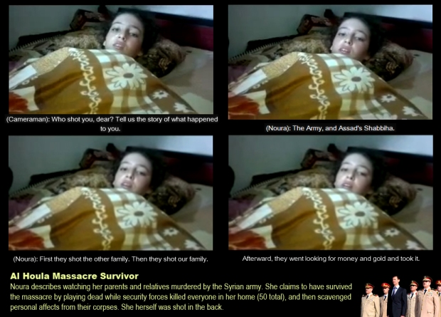 syria assad al-houla massacre girl survivor