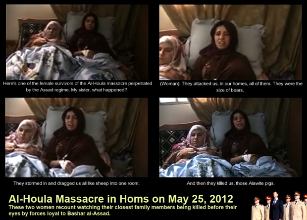 survivors of syria assad al-houla massacre