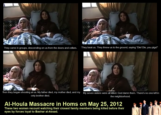 syria assad al-houla massacre two woman survivors