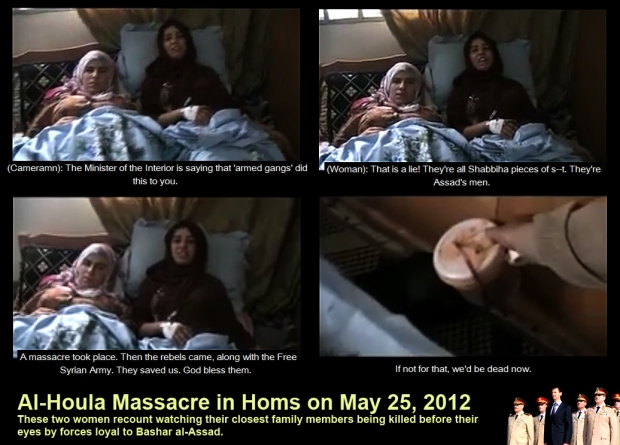 syria assad houla massacre two woman survivors