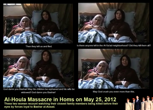 syria assad houla massacre woman survivors