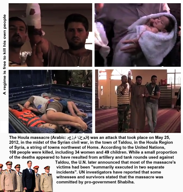 Al-Houla Massacre by Assad regime Shabiha