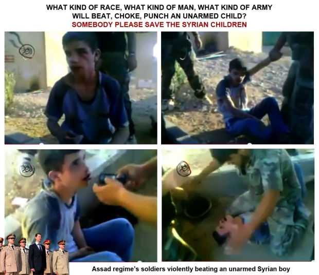 Bashar Al-Assad government soldier torture syrian children