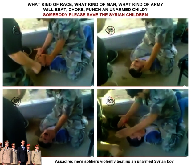 Syria Bashar al-Assad regime government army torture beaten syrian children