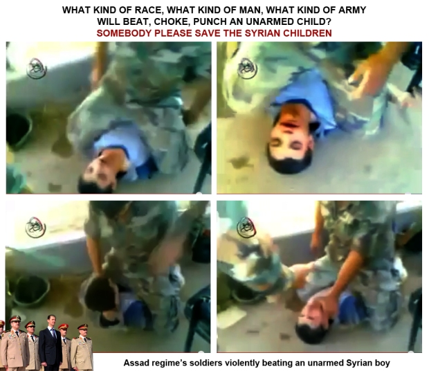 Syria president Assad regime army torture and kill syrian boy and man