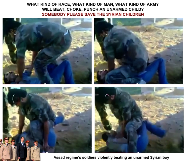 Assad syrian president beat children violently