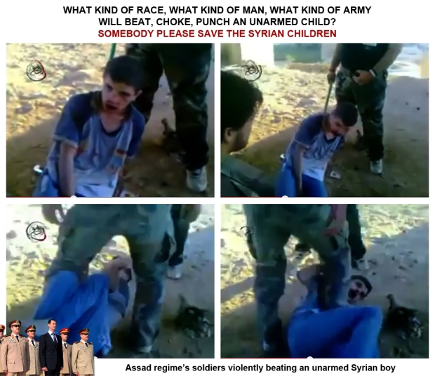 Assad soldier daily atrocities torture rape beaten children