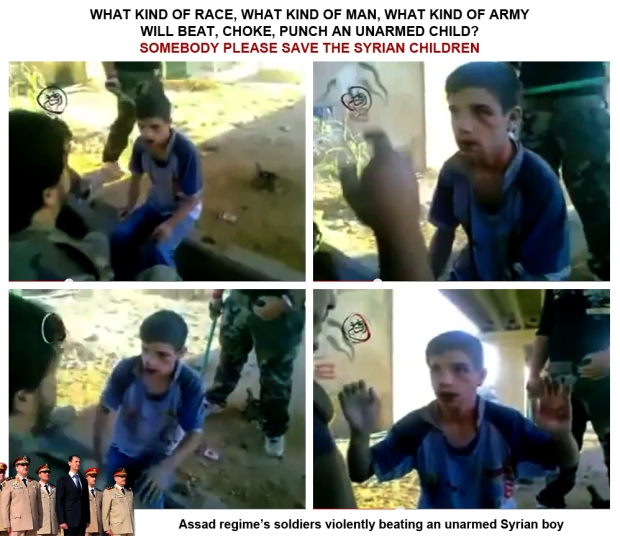 Assad brutality torture beat syrian children