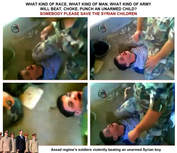 Assad regime forces torture innocent syrian child