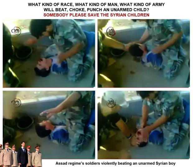 Syria Assad regime soldiers torture innocent syrian boy