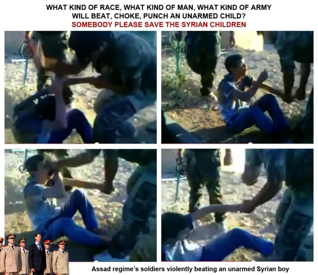Assad regime forces abuse children