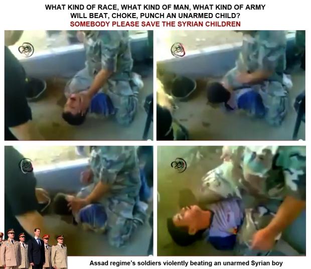 Assad Bashar Syria regime torture Syrian children