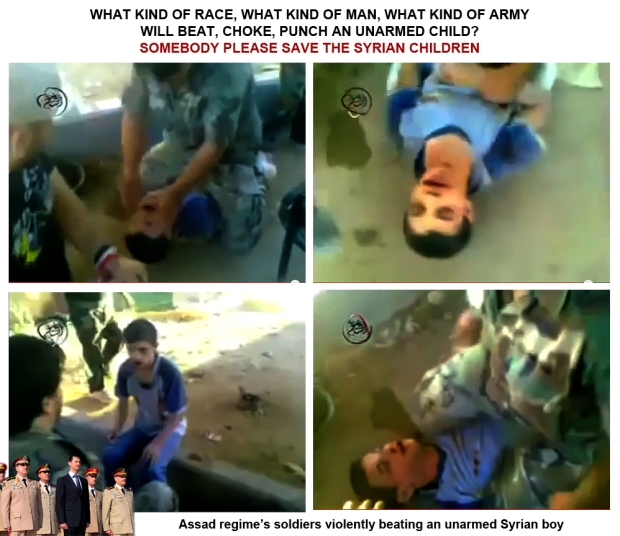 Bashar al-Assad regime torture innocent syrian civilian children