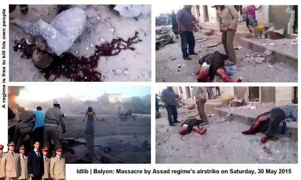 syria assad regime army bomb Balyon idlib airstrike kill many innocent syrians