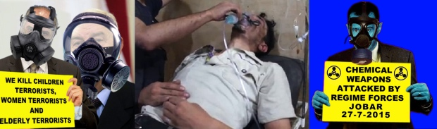 syria assad regime chlorine bombs attack on civilians on Jobar Syria