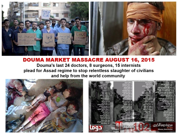 assad bashar syria bomb douma kill children