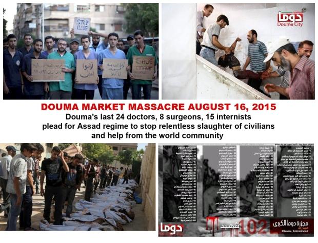 assad bashar syria massacre douma