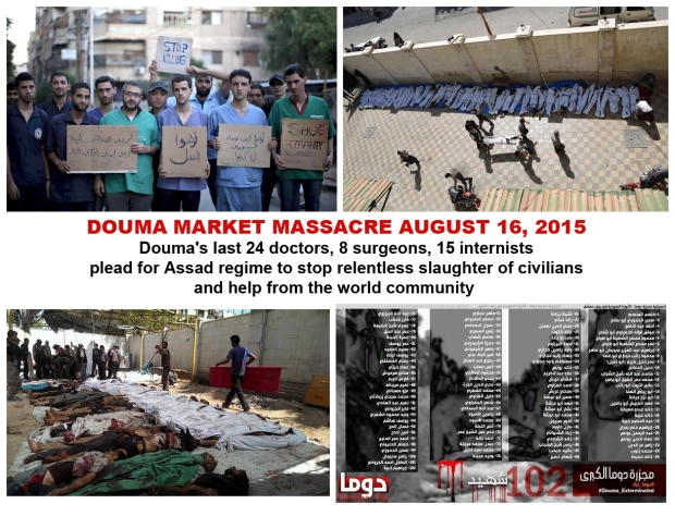 Stop Bashar al-Assad bombing Douma