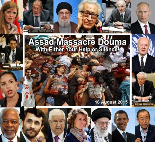 Douma market massacre by Bashar al-Assad regime