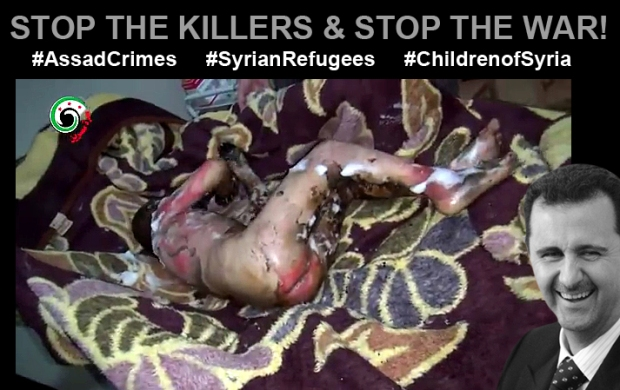 assad bashar in syria killing innocent children