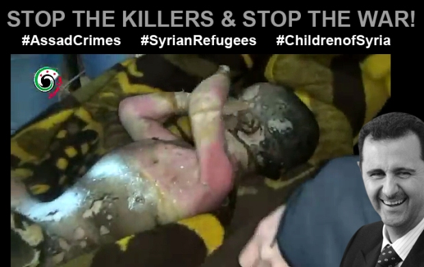 assad bashar syria soldier kill children