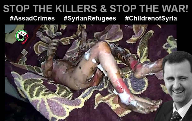 bashar al-assad in syria kill children