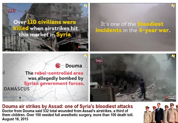 Bashar al-assad bloodiest airstrike attack civilian market in Douma