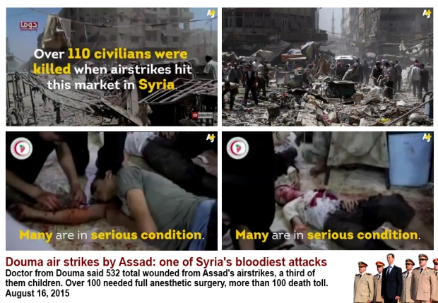 Assad airstrike doman market killing hundred civilians