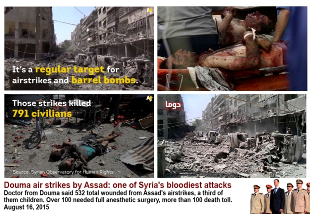 Douma marketplace genocide massacre civilians