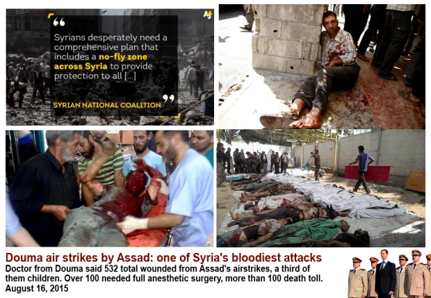 Killing civilian bomb market Assad regime atrocities