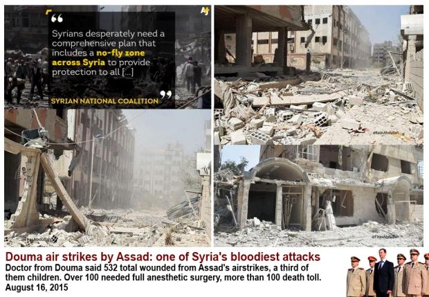 bashar al-assad killing civilian in Douma Damascus Syria