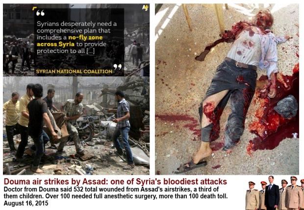 bashar al-assad carry out massacre on douma civilians
