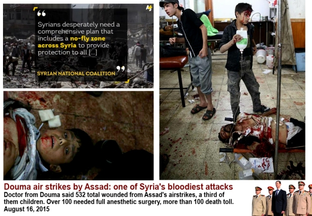 assad regime massacre douma civilians