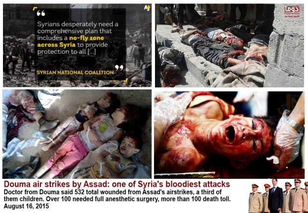 assad bomb douma killing hundred civilians