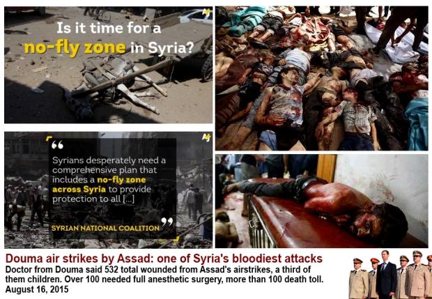Douma market massacre civilian die
