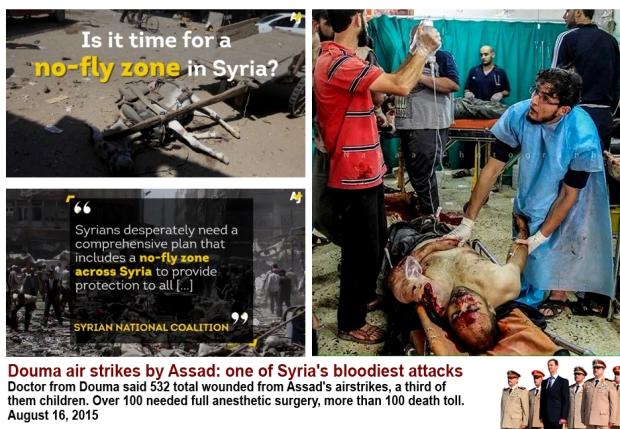 Assad bomb Douma market