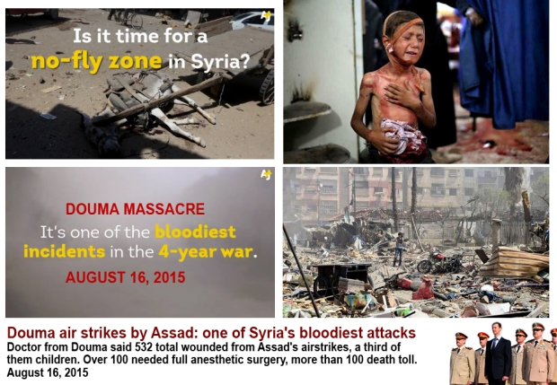 Mass killing children, civilians at Douma Marketplace