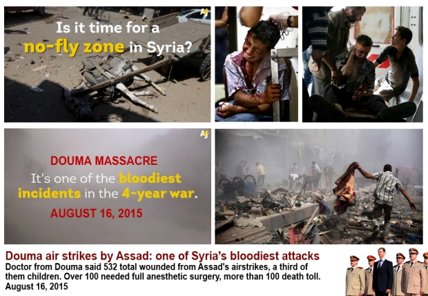 Assad mass murder Douma Civilians