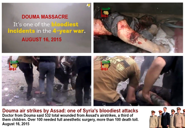 Deadliest attack on civilians by Syria Assad regime