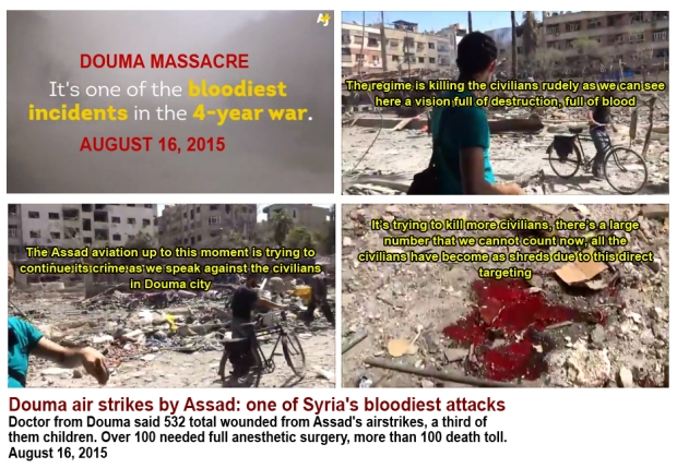 Douma deadliest attack by Assad regime
