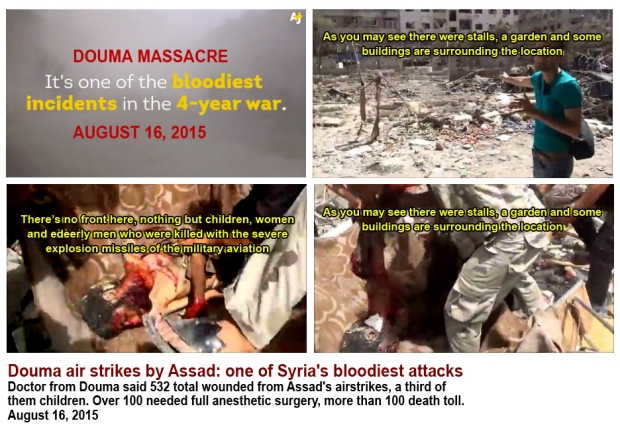 Assad mass murdered civilian in Douma Syria