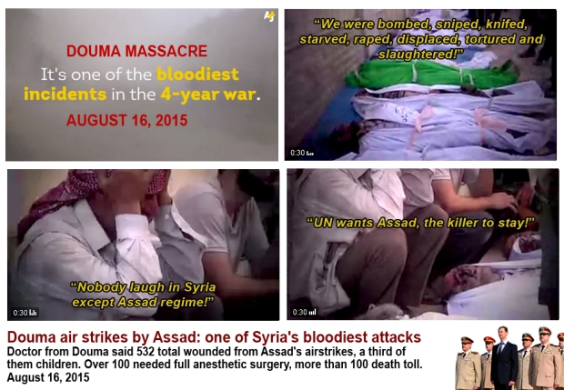 Douma massacre disregard human life by Assad regime