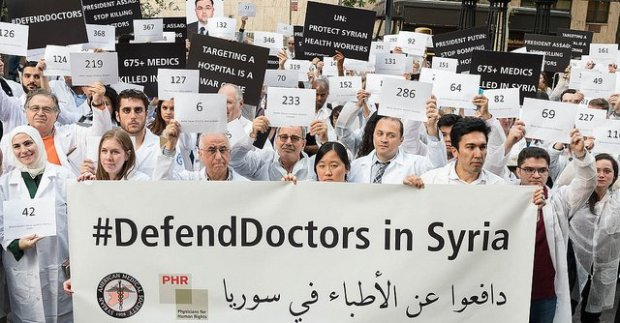 Assad regime murdered syrian health care professionals doctors, nurses, medic