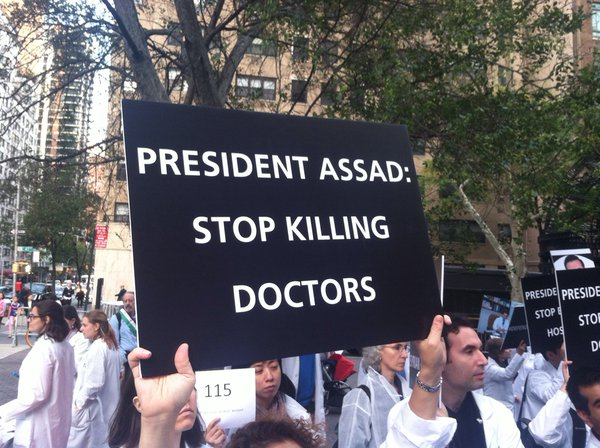 Syrian doctors, nurses, medic were killed by assad regime
