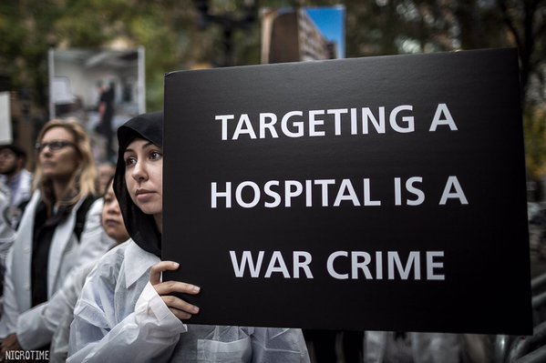 Syrian president Bashar al-Assad bomb hospitals